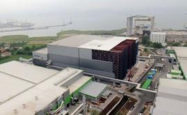 Vista aérea del espectacular almacén autoportante de Hayat Kimya