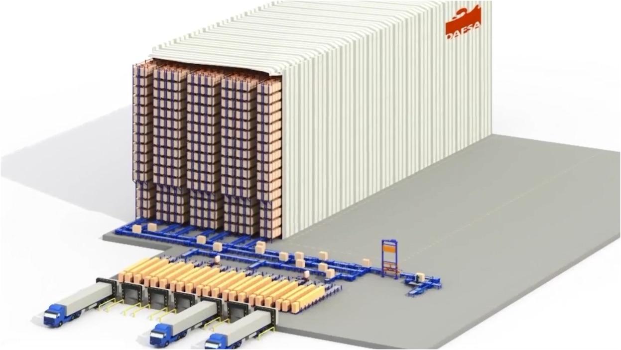Caso práctico del cliente Dafsa: almacén automático autoportante