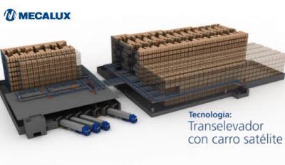 Transelevador con carro satélite: compactación automática de palets