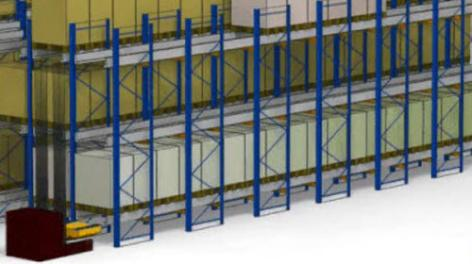 Sistema Pallet Shuttle, la compactación semiautomática
