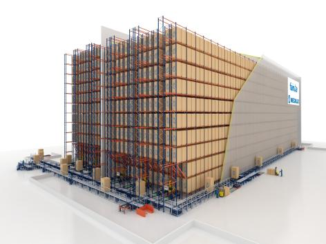 El almacén de Grupo Familia posee una capacidad para alojar 19.000 palets