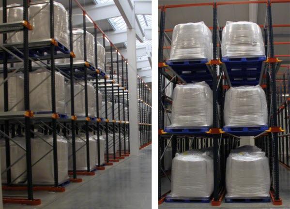 Südstärke almacena el almidón en estanterías compactas 'drive-in' de Mecalux
