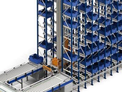 Un nuevo almacén automático de cajas en el centro de distribución de Project