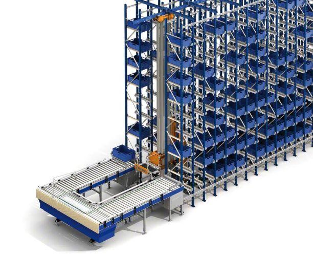Un almacén automático miniload en el centro logístico de Luca Cucolini en Toledo