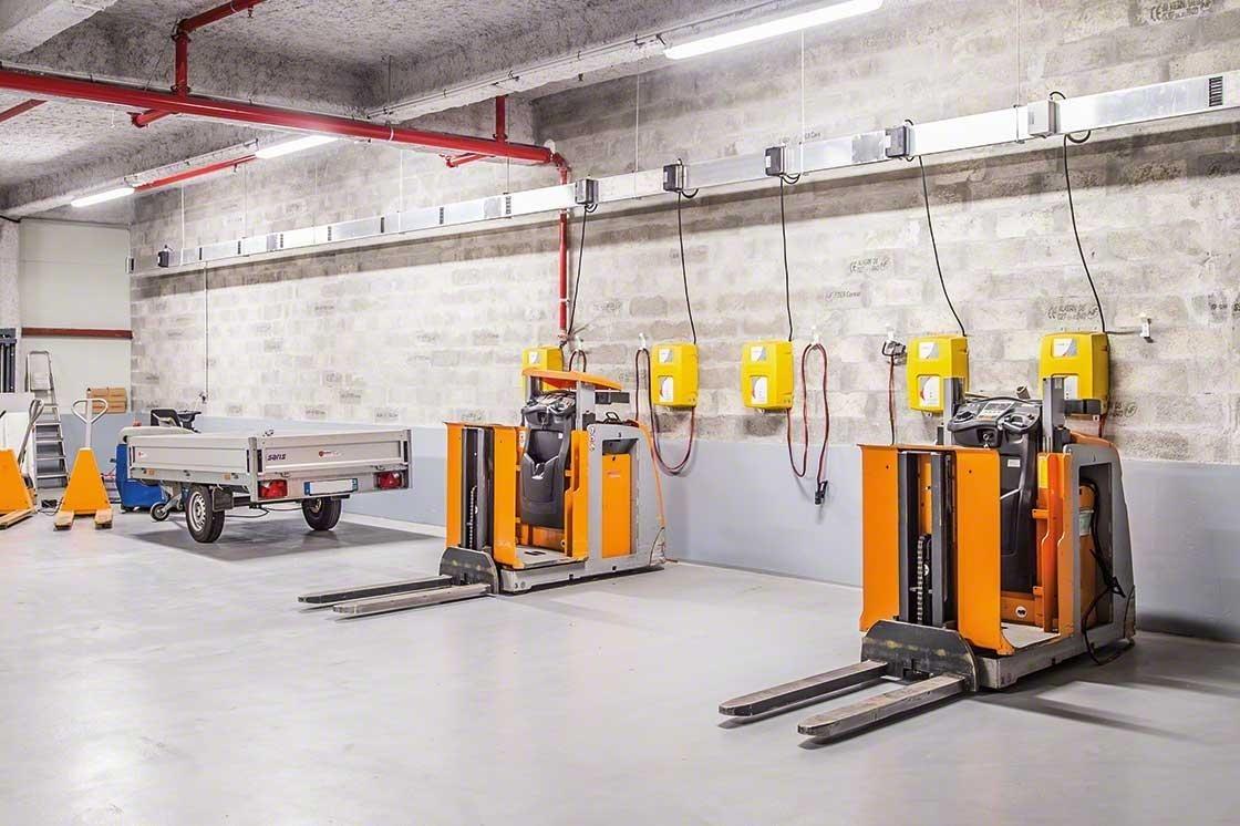 La zona del almacén para el mantenimiento de los equipos debe cumplir todas las normas de seguridad