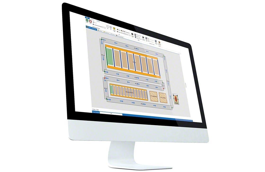 Ordenador en el que se ha instalado el WMS para una correcta gestión, y gracias al que se puede medir los KPI en el almacén.