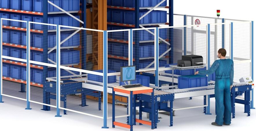 Almacén automático de cajas de Airgrup con capacidad para 3,852 cajas