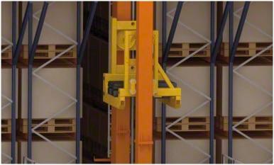 Almacén automático en el centro logístico de Kiwi Greensun en Portugal