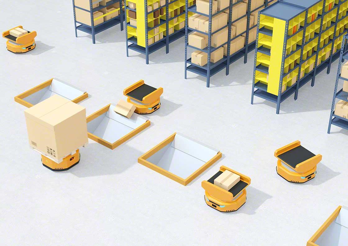 Los robots móviles pueden realizar tareas de clasificación de paquetes